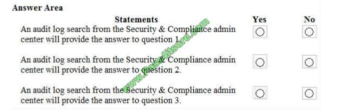 Pass4itsure MS-101 exam questions-q7